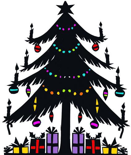 クリスマスツリーの無料イラスト素材☆オーナメント、リース、飾り ...